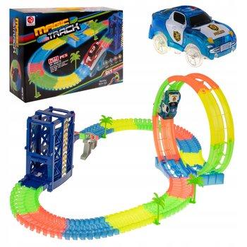 KIK, tor samochodowy Luminous Track, 129 el.-KIK
