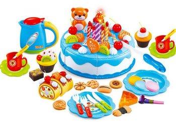 KIK, zabawka edukacyjna Tort Urodzinowy do Krojenia, niebie