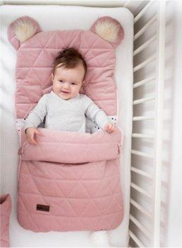 Kinder Hop, Śpiworek fotelikowy, Pink, U, 80x45 cm, 6w1-Kinder Hop