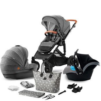 Kinderkraft, Prime, Wózek głęboko-spacerowy, Moomy Bag, Grey, 3w1-Kinderkraft
