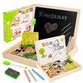 Kinderplay, kreatywna tablica magnetyczna z puzzlami-Kinderplay
