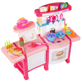 Kinderplay, różowa kuchnia dla dzieci z tosterem-Kinderplay