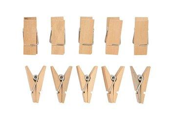 Klamerki drewniane, 10 sztuk
