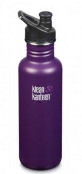 Klean Kanteen, Butelka, Classic (Sport Cap 3.0), Winter Plum (matt), 800 ml-Klean Kanteen