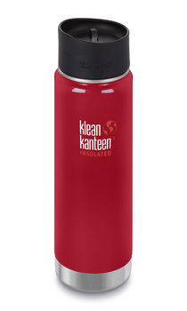 Klean Kanteen, Butelka turystyczna, Wide Vacuum Insulated (mit Café Cap 2.0) 20oz, czerwony, 532 ml-Klean Kanteen