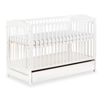 Klupś, Radek V, Łóżeczko niemowlęce z szufladą, Biały, 60x120 cm-Klupś