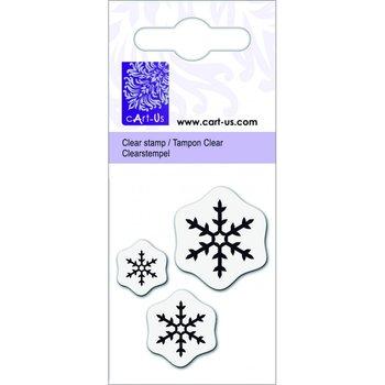 Knorr Prandell, stempel transparentny, Śnieżynki, 3 sztuki