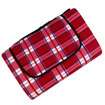 Koc piknikowy PROMIS, czerwona krata, 150x200 cm-Promis
