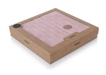 kocyk dziany  Jodełka różowy pudełko-Ceba Baby