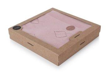 kocyk dziany  Romby róż pudełko-Ceba Baby
