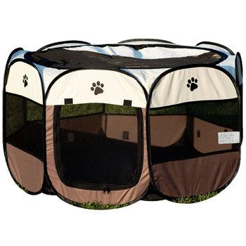 Kojec dla psa BESTOMI, brązowy, 59x110x110 cm-Bestomi