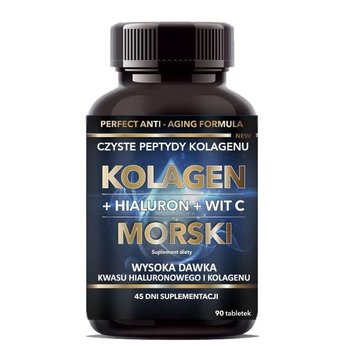 Kolagen Morski + Hialuron + Witamina C 90 Tabletek 45 g - Intenson-Intenson