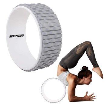 Koło do jogi roller biało-szare
