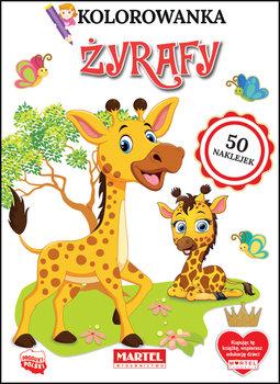 Kolorowanka. Żyrafy. Z naklejkami-Ratajszczak Katarzyna, Gdula Adam