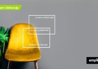 Kolory roku 2021 według Pantone: jasnoszary i żółty we wnętrzach