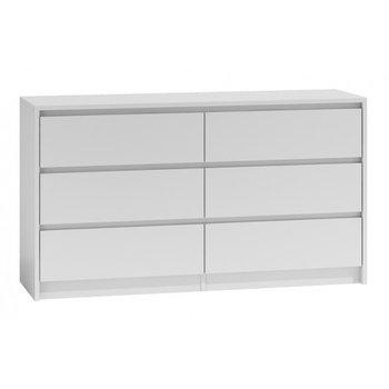 Komoda szafka KARO, 6 szuflad, biała, 138x40x75 cm-Topeshop