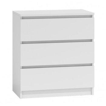 Komoda szafka MALWA, 3 szuflady, biała, 70x40x77 cm-Topeshop