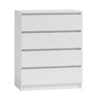 Komoda szafka MALWA, 4 szuflady, biała, 70x40x95,5 cm-Topeshop