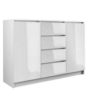 Komoda TOPESHOP 2d4s, biała, 120 cm-Topeshop