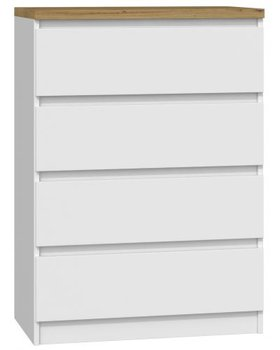 Komoda TOPESHOP Malwa M4, biała-dąb artisan, 98x70x40 cm-Topeshop