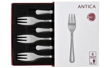 Komplet 6 widelczyków do ciasta Antica 04-Gerlach