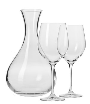 Komplet kieliszków i karafka do wina KROSNO, Harmony, 3 elementy-Krosno