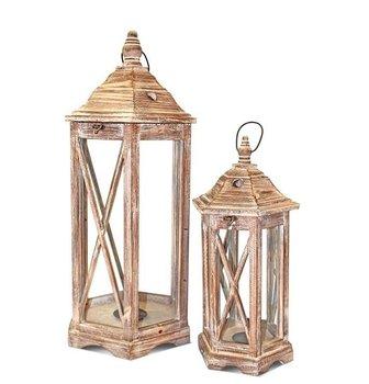 Komplet lampionów Candela, brązowy, 2 elementy-Pigmejka