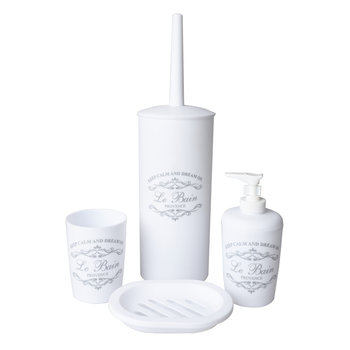 Komplet łazienkowy 4 elementowy biały - Yoka-Yoka Home