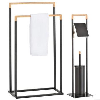 Komplet łazienkowy czarny bambus 2-elementowy - Yoka-Yoka Home