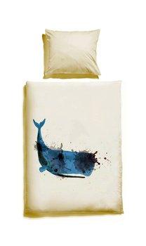 Komplet Pościeli Dziecięcej White Pocket Duża Ryba 150x200 Cm