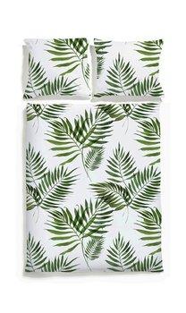 Komplet Pościeli White Pocket Palmy 160x200 Cm 2 Poszewki Na