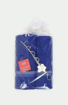 Komplet ręczników GRENO Ombre, upominek, granatowy, 50+70 -Greno