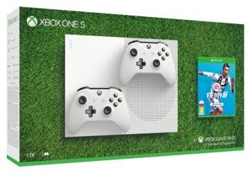 Konsola MICROSOFT Xbox One S, 1 TB + 2 kontrolery + FIFA 19-Microsoft