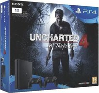 Konsola Sony PlayStation 4 1 TB Slim + Uncharted 4 + 2 kontrolery v2