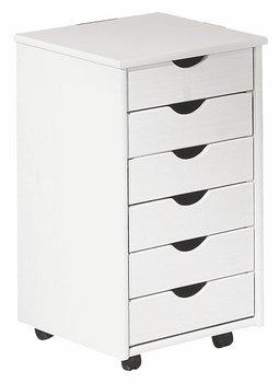 Kontenerek do biurka ELIOR Delis, biały, 37x41x63 cm-Elior