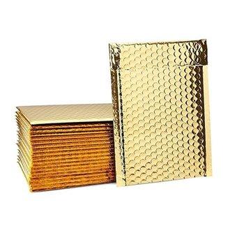 Koperta bąbelkowa, metaliczna C13, złota