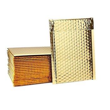 Koperta bąbelkowa, metaliczna H18, złota