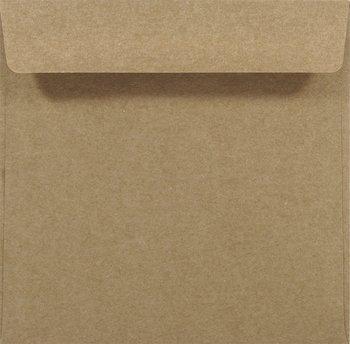 Koperta ozdobna, ekologiczna, kwadratowa K4, brązowa