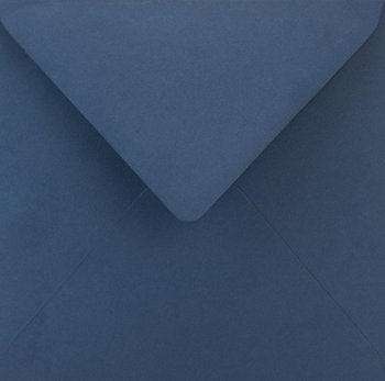 Koperta ozdobna, kwadratowa, K4, Sirio Color Blu ciemnoniebieska