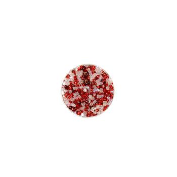Koraliki ozdobne, czerwone i białe, 16 g