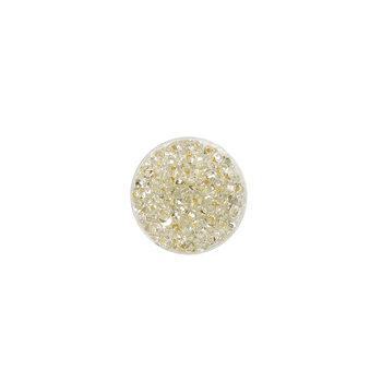 Koraliki ozdobne, okrągłe, srebrne, 17 g