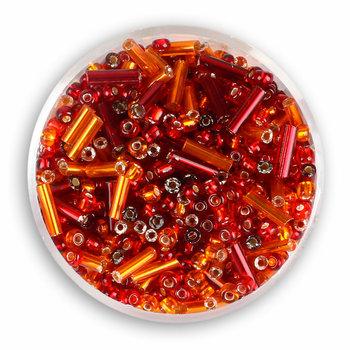 Koraliki ozdobne, rokoko, czerwone, 16 g