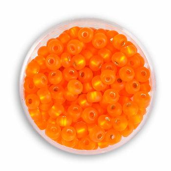 Koraliki ozdobne, rokoko, pomarańczowe, 4,5 mm, 16 g