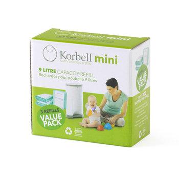 Korbell, Wkład worek, Refill 3-pack, Mini, 9l-Korbell