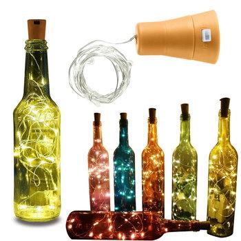KOREK DO BUTELKI 10 LED LAMPKA SOLARNA WODOODPORNA-decortrend