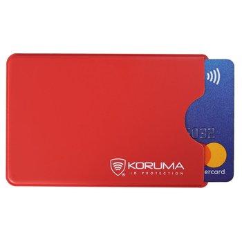 Koruma, Etui antykradzieżowe RFID, czerwone, 5,9x9 cm-Koruma