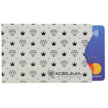 Koruma, Etui na karty RFID, beżowe, 5,7x8,8 cm-Koruma