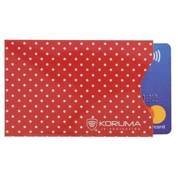 Koruma, Etui na karty RFID, czerwone, 5,7x8,8 cm-Koruma