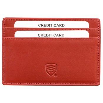 Koruma, Etui na karty RFID damskie, czerwone, 7,5x11,5 cm-Koruma