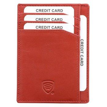 Koruma, Etui na karty RFID damskie, czerwone, 8x11 cm-Koruma